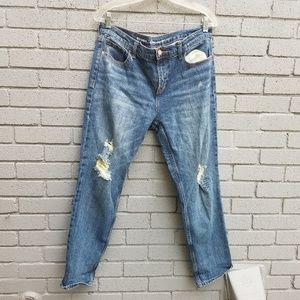 Old navy boyfriend straight distressed jeans 10